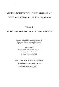 Internal Medicine in World War II   Activities of medical consultants PDF
