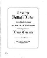 Geistliche und weltliche Lieder PDF