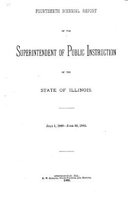 Annual Report of the Superintendent of Public Instruction  State of Illinois PDF