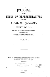 Journal of the House of Representatives, State of Alabama: Volume 2