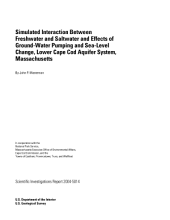 Simulated interaction between freshwater and saltwater and effects of ground-water pumping and sea-level change, lower Cape Cod aquifer system, Massachusetts