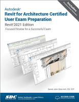 Autodesk Revit for Architecture Certified User Exam Preparation  Revit 2021 Edition  PDF