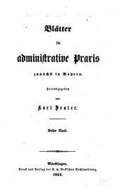Deutsche Verwaltungsblätter: Blätter für administrative Praxis, Band 1