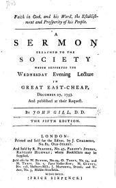 Faith in God and his Word, the establishment and prosperity of his people. A sermon preached ... December 27, 1753