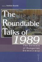 The Roundtable Talks of 1989 PDF