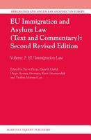 EU Immigration and Asylum Law  Text and Commentary   Second Revised Edition PDF