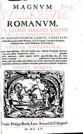Magnum bullarium romanum: a B. Leone Magno vsque ad S.D.N. Innocentium X