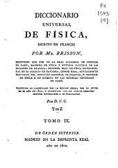 Diccionario universal de física: Volumen 9