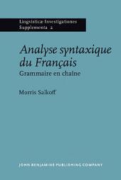 Analyse syntaxique du Français: Grammaire en chaîne