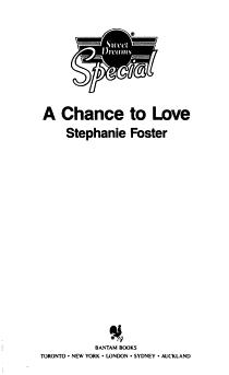 A Chance to Love PDF