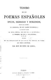 Tesoro de los poemas españoles: épicos, sagrados y burlescos ...