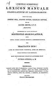 Cornelii Schrevelii Lexicon manuale græco-latinum et latino-græcum