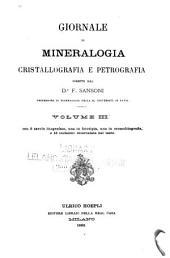 Giornale di mineralogia, cristallografia e petrografia: Volumi 3-5