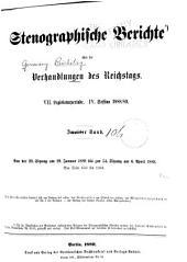 Verhandlungen des Reichstags: Band 106