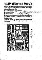 Opera diligentius castigata et in meliorem ordinem restituta