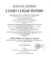 Dictionnaire historique de l'ancien langage françois: ou Glossaire de la langue françoise depuis son origine jusqu'au siècle de Louis XIV, Volume5