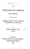 The Church of Christ Considered PDF