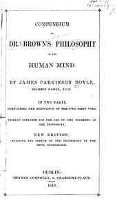 Compendium of Dr. Brown's Philosophy of the Human Mind
