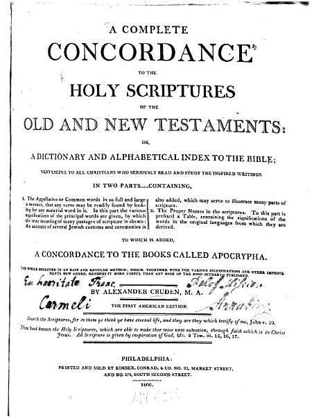 Download A complete Concordance to the Holy Scriptures of the Old and New Testaments Book