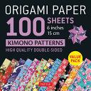 Origami Paper 100 Sheets Kimono Patterns Patterns 6  15 Cm