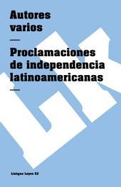 Proclamaciones de independencia latinoamericanas