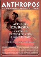 Anthropos Revista de Documentacion Cientifica de la Cultura PDF