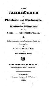 Neue Jahrbücher für Philologie und Paedogogik: Band 43