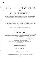 The Revised Statutes of the State of Missouri: Volume 2