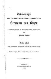 Erinnerungen aus dem Leben des General-Feldmarschalls Hermann von Boyen: Band 3