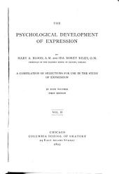 The Psychological Development of Expression: Volume 2
