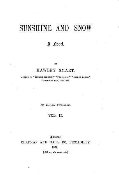 Download Sunshine and Snow Book