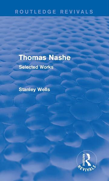 Thomas Nashe (Routledge Revivals)