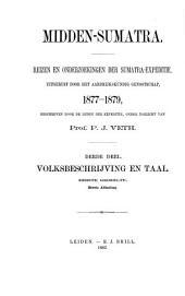 Volksbeschrijving van Midden-Sumatra: Volume 1