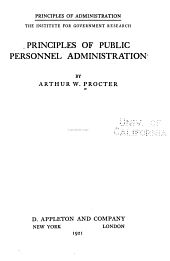 Principles of Public Personnel Administration: Issue 4