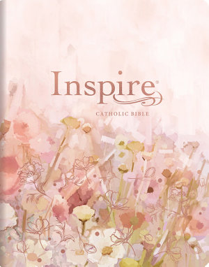 Inspire Catholic Bible NLT Large Print  Leatherlike  Pink Fields with Rose Gold   The Bible for Coloring   Creative Journaling