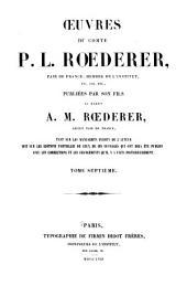 Œuvres du comte P. L. Rœderer ...