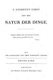Von der Natur der Dinge: mit dem lateinischen Text nach Wakefield's Ausgabe