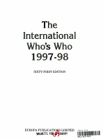 The International Who s Who  1997 98 PDF