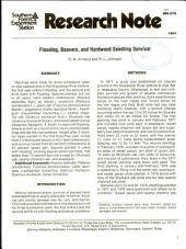 Flooding, Beavers, and Hardwood Seedling Survival