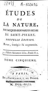 Études de la nature: Volume4