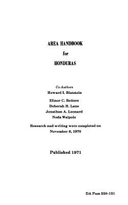 Area Handbook for Honduras PDF