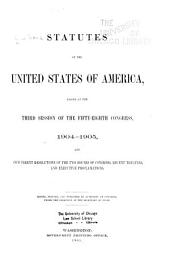 Statutes of the United States of America Passed at the ... Session of the ... Congress
