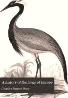 A History of the Birds of Europe  Not Observed in the British Isles PDF