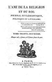 L'Ami de la religion et du roi: journal ecclésiastique, politique et littéraire