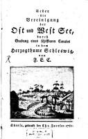 Ueber die Vereinigung der Ost und West See     PDF