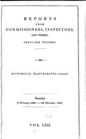 Parliamentary Papers: Volume 62