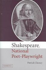 Shakespeare  National Poet Playwright PDF
