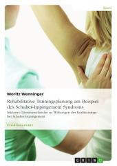 Rehabilitative Trainingsplanung am Beispiel des Schulter-Impingement Syndroms: Inklusive Literaturrecherche zu Wirkungen des Krafttrainings bei Schulter-Impingement