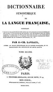 Dictionnaire synonymique de la langue francaise: Volume 2