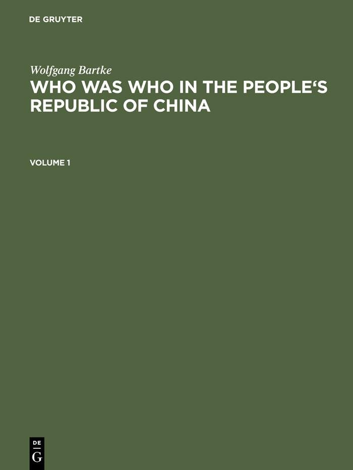 Who was Who in the People's Republic of China